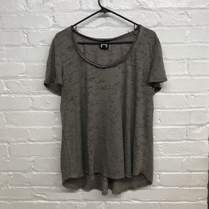 Distressed Grey Top